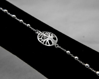 Sterling Silver Bracelet, Tree of life