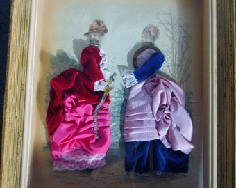 Table bridesmaid France with fabrics and fabrics Victorian 1950