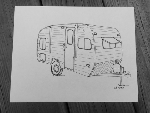 Instant Download Riverside Retro Travel Trailer by PittStar
