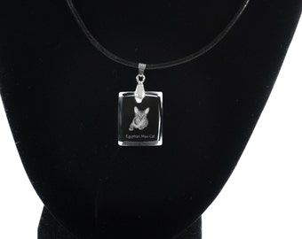 Egyptian Mau , Cat Crystal Necklace, Pendant, High Quality, Exceptional Gift, Collection!