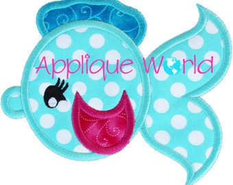 Girly Fish Applique Embroidery