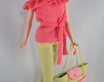 Silkstone Barbie Fashion – Allegro -  Blouse and Pants with Tote