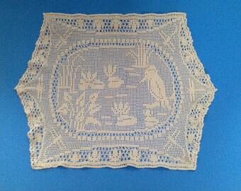 Vintage Filet Crochet Doily