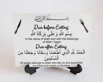 Dua Plaque - Eating