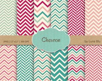 "Chevron Digital Paper: ""Chevron Patterns"" chevron backgrounds for scrapbooking, invites, cardmaking, crafts"