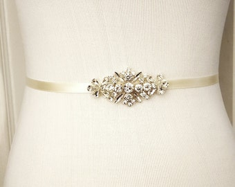 Wedding Belt, Bridal Belt, Sash Belt, Crystal Rhinestone, Style 187