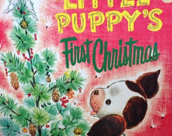 The Poky Little Puppy's First Christmas, Golden Press 1973. Large Golden Book