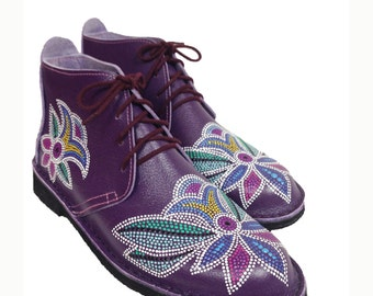 Vegan Boots Ladies Boots Ladies Vegan Boots Purple Boots