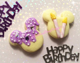 Happy Birthday Cake Inspired Mickey Lollipop Necklace Brooch