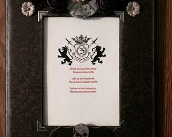 Custom Halloween Purple Skull Frame