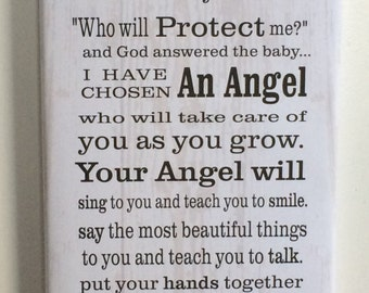 An Angel Call Her Mommy Wood Sign or Canvas Wall Hanging - New Baby, Mother's Day, Shower Gift, Christmas, Valentines, Birthday, Nursery