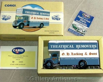 Vintage 1993 Corgi Diecast Limited Edition vehicle Bedford Pantechnicon Luckings Removals Original Box & Certificate 2485 / 4000 (a) (3189)