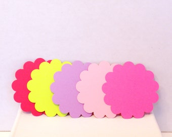 50 Scallop Gift Tags-Gift Tags, Tags, Gift Tag,Favor Tags, Party Tags, Wedding Tags, Gift Bag Tags
