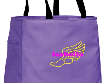 Personalized Tote Bag Embroidered Tote Bag Custom Tote Bag - Sports - Track & Field - B0750