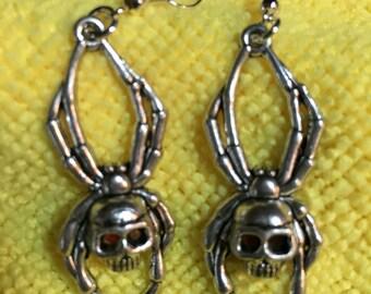 Skull Spider Earrings