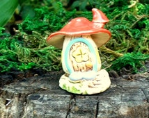 Mushroom Fairy House- Ceramic - Fairy Garden- Terrarium- Fish Tank