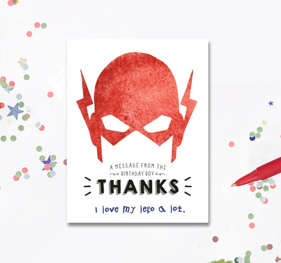 Thank You Cards The Flash Birthday Invite The By MotifVisuals