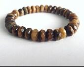 Tiger's Eye Rondelle Bracelet