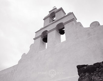 San Antonio Mission Espada Photograph, Church Bells Fine Art Print, Texas History Wall Art, Home Decor