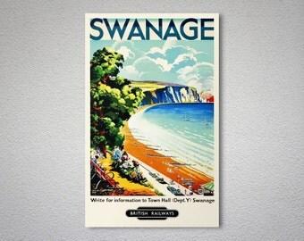 Swanage British Railways Travel Poster - Poster Print, Sticker or Canvas Print