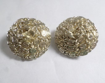Vintage Gold Tone Clip On Earrings  DL#5880
