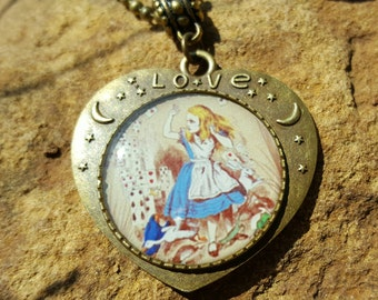 Vintage Alice In Wonderland Rabbit Hole Charm