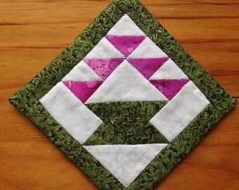Coaster, mug rug, snack mat, placemat, candle mat