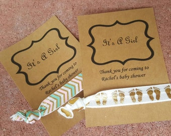 Its a girl customizable tie card favor