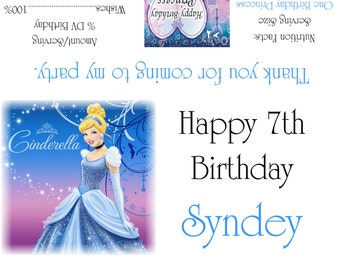 Disney's Cinderella Candy Bar Wrappers/Birthday Party Favors Design #2