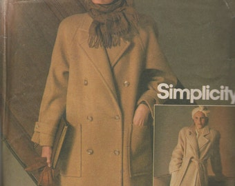 Simplicity Connoisseur Lined Coat Sewing Pattern   Size  8 Uncut, Simplicity 6578