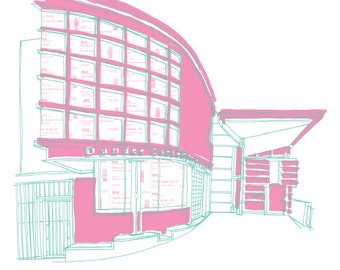 DCA Cinema Building Dundee Scotland A3 Illustration Art Print