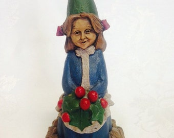 "Retired Tom Clark Gnome ""Holly""  - Great Christmas Gift"