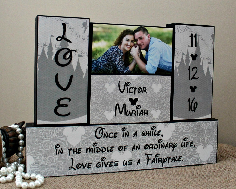 Unique Wedding Gifts Wood : Unique Wedding Gift Wooden Blocks Custom Bridal Shower Gift