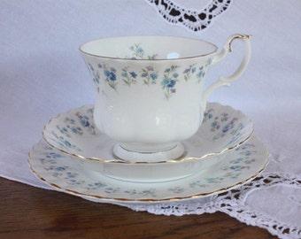 Vintage Royal Albert bone china trio ~ Memory Lane