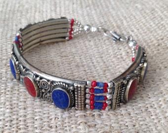 Vintage Lapis Coral bracelet