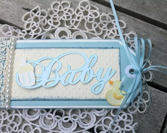 baby boy gift tag, baby shower tag, baby gift tag