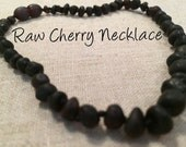 Baltic Amber Teething Necklace Polished or Raw 12.5 inch Drooling Cognac Lemon Honey Cherry Multi Rainbow