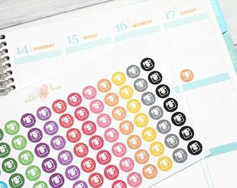 Instagram Inspired Planner Stickers -Pastel or Bright - Matte