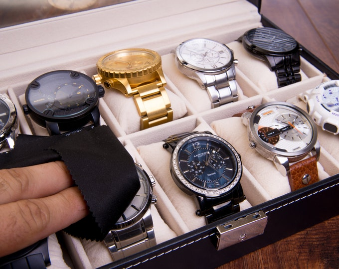 Bridesmaid Gift, Personalized Jewelry Box, Watch Box, Watch Case, Watch Organizer, Watchbox, Leather Watch Box, Jewelry Display, Gift Set