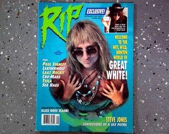 Great White - Rip Magazine - September 1989