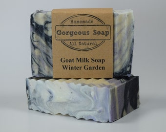 Winter Garden Goat Milk Soap - All Natural Soap, Handmade Soap, Homemade Soap, Handcrafted Soap