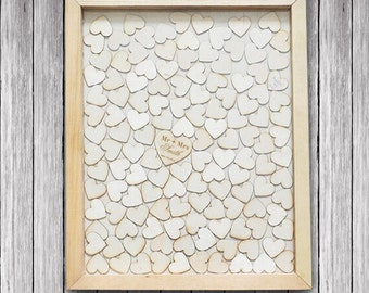 Wedding GuestBooks - Wedding Guest Book Alternative - Personalized Drop Box Guestbooks - Hearts Guest Book - Wedding Guest Book Heart-Rustic