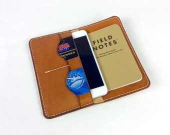 iPhone 7 wallet, 7 plus wallet, iPhone 6 or 6 plusWallet,  Field Notes Wallet, Passport wallet, Handmade leather