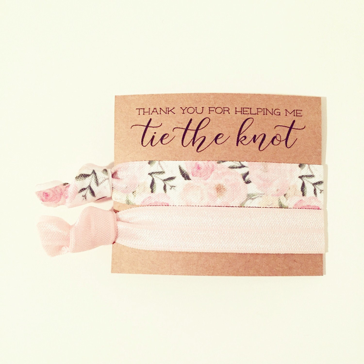 wedding ideas for bridesmaids hair tie bridal shower favor floral hair tie favor 27931