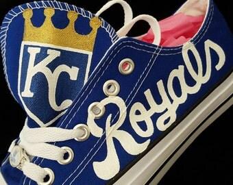 custom KANSAS CITY ROYALS men and women baseball fan sports fan shoes...