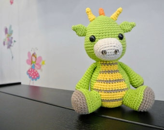 Spike the Crochet Dragon Amigurumi - Handmade Crochet Amigurumi Toy Doll - Dragon Crochet - Amigurumi Dragon