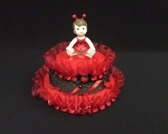 Set of 10 Lady Bug Baby Center Pieces