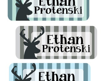 Name Labels, Baby Bottle Labels, Daycare Labels, Waterproof Name Labels, Antler Tribal Labels Personalized Waterproof Labels, Name Stickers