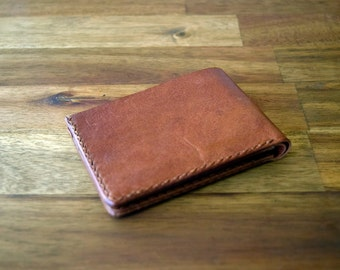 A Slim Design Kangaroo Leather Wallet - Cognac Colour