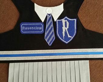 Hogwarts School Uniform/ Small Dog Puppy/ Vest or Dress/ Ravenclaw, Hufflepuff, Gryffindor, and Slytherin/ Harry Potter Costume